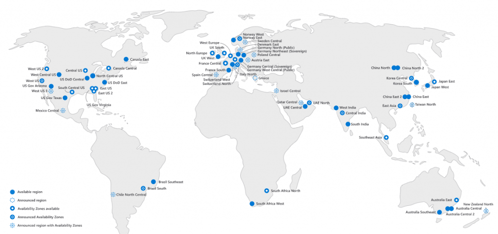 Azure Global Map